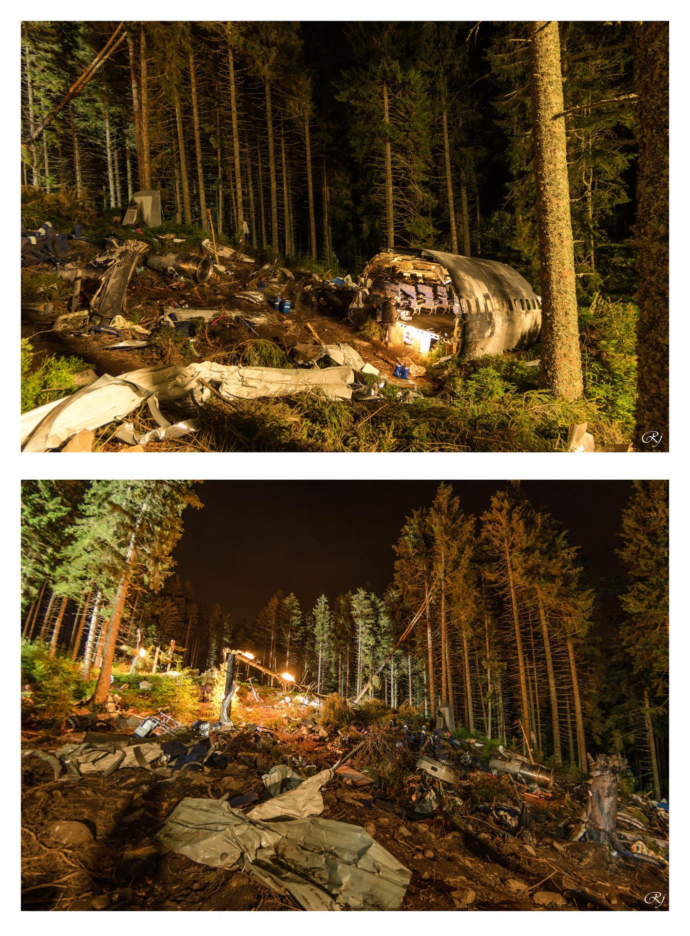 La zone du crash au lac Vert (Soultzeren)